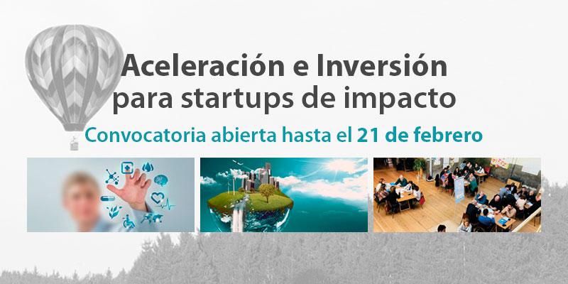 Convocatoria aceleración startups y tercer sector